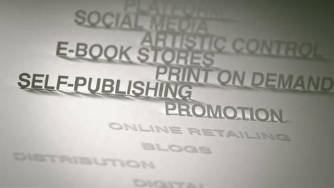 Self-Publishing Concept Animation Stock Video Footage