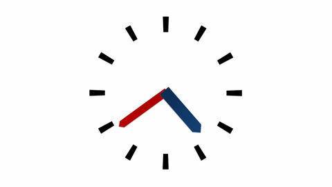 Clock - 12 Hours Stock Video Footage