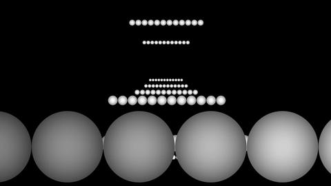 rolling ball array Stock Video Footage