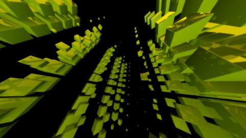 green cube Animation