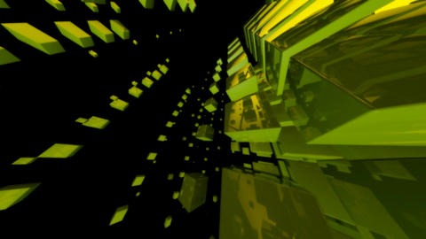 green cube Stock Video Footage