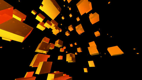 yellow cube Stock Video Footage