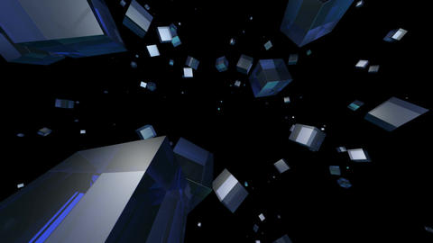 blue cube Stock Video Footage