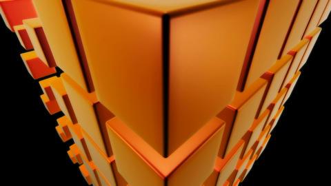 orange dice Stock Video Footage