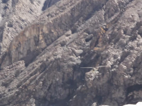 Helicopter flying in the mountains Stock Video Footage