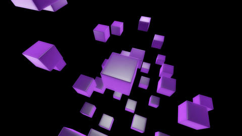 purple box Stock Video Footage