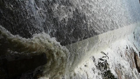 flood discharge,torrential waterfall running Animation