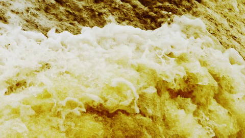 flood discharge,torrential waterfall running,china yellow... Stock Video Footage