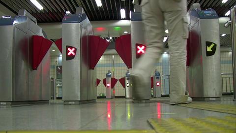 Subway gantry Footage