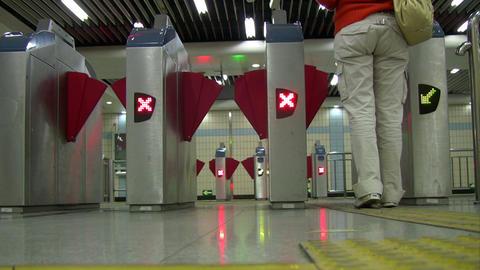 Subway gantry Stock Video Footage