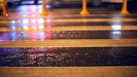 Pedestrian crossing Stock Video Footage