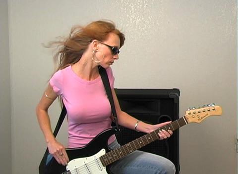 Pink Rocker Girl Stock Video Footage