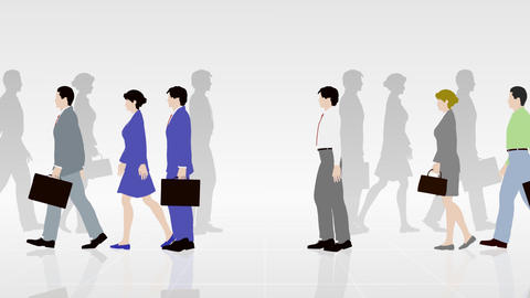 Walking People 3 ABa Animation