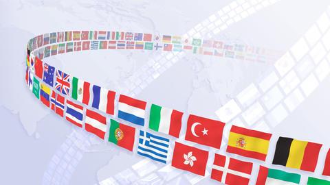 National flag 2 R Ba HD Stock Video Footage