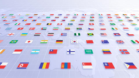 National flag 2 W Aa HD Stock Video Footage