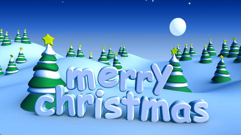 christmas landscape 01 Stock Video Footage