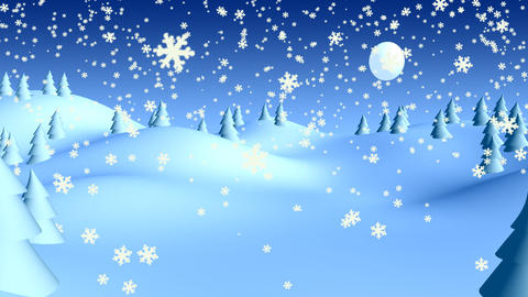 christmas landscape 03 Animation