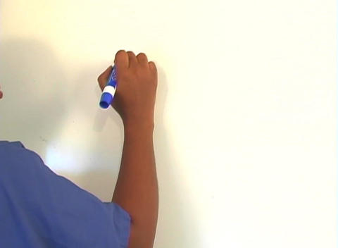 "Beautiful Nurse Writes ""Breast Biopsy"" on a White Board... Stock Video Footage"
