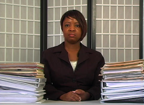 Overworked Businesswoman (3) Stock Video Footage
