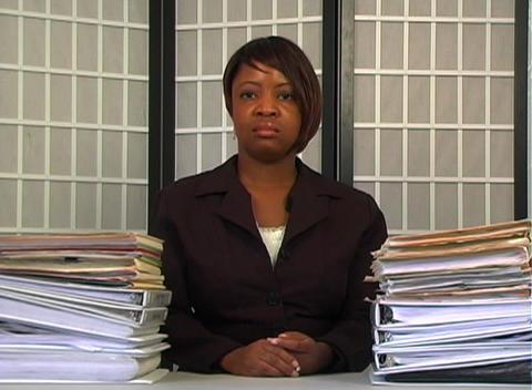 Overworked Businesswoman (3) Stock Video Footage