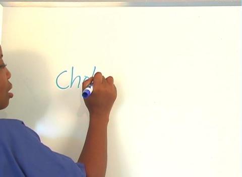 "Beautiful Nurse Writes ""Cholecystectomy"" on a White Board... Stock Video Footage"