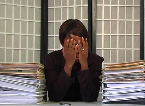 Overworked Businesswoman (4) Stock Video Footage
