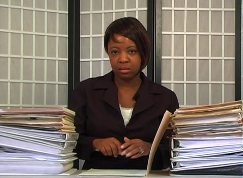 Overworked Businesswoman (4) Stock Video Footage
