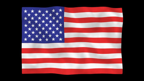National flag A01 USA HD Stock Video Footage