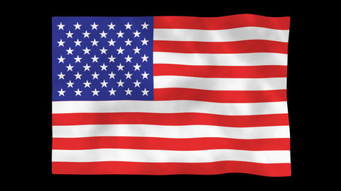 National flag A01 USA HD Animation