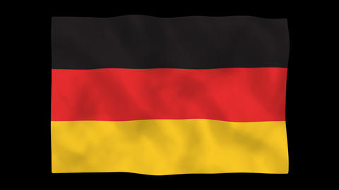 National flag A03 GER HD Stock Video Footage