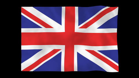 National flag A05 GBR HD Animation