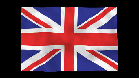 National flag A05 GBR HD Stock Video Footage