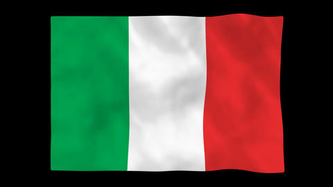 National flag A07 ITA HD Animation