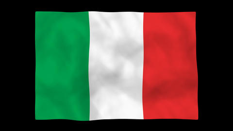 National flag A07 ITA HD Stock Video Footage
