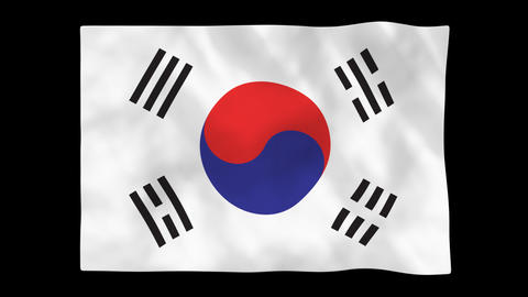 National Flag A13 KOR HD stock footage