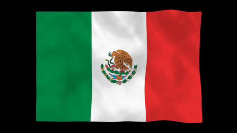 National flag A15 MEX HD Stock Video Footage