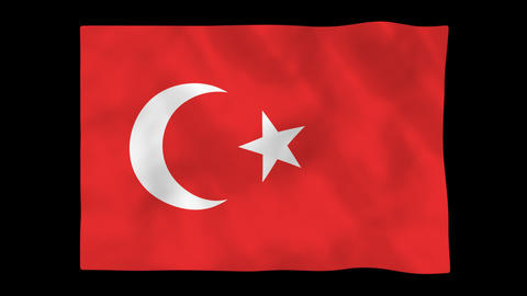 National flag A17 TUR HD Animation