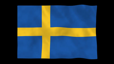 National flag A19 SWE HD Animation