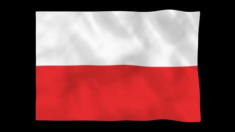 National flag A21 POL HD Animation
