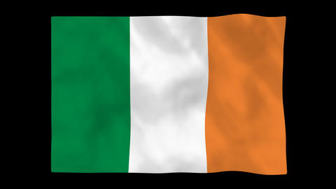 National flag A31 IRL HD Stock Video Footage