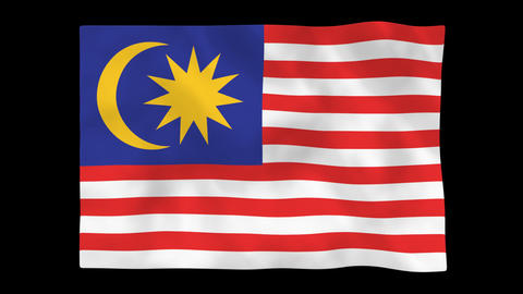 National flag A41 MAS HD Animation