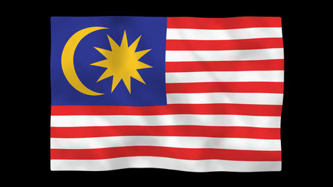 National flag A41 MAS HD Stock Video Footage