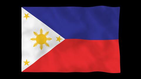 National flag A45 PHI HD Animation