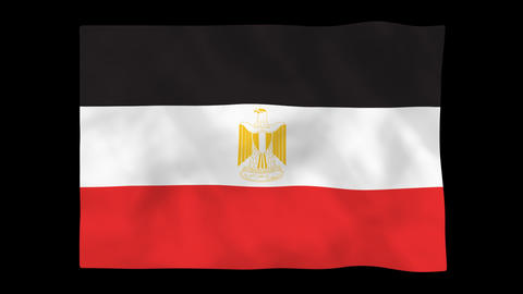 National flag A49 EGY HD Animation