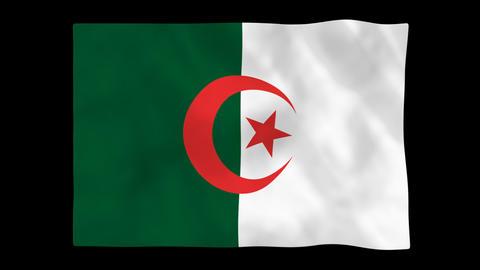 National flag A51 ALG HD Animation