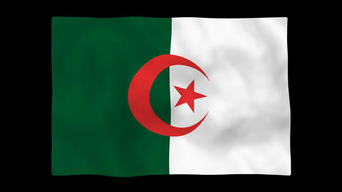National flag A51 ALG HD Stock Video Footage