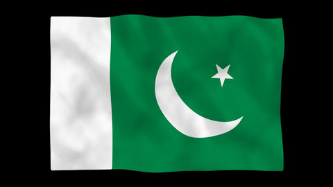 National flag A53 PAK HD Stock Video Footage