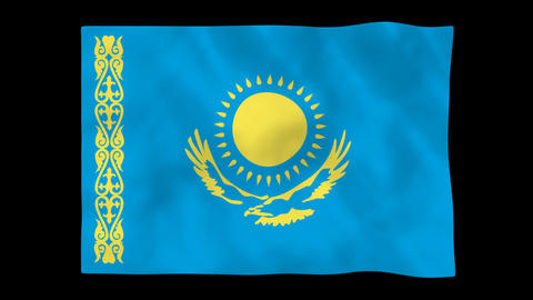 National flag A55 KAZ HD Animation
