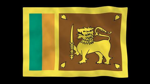 National Flag A65 SRI HD Animation