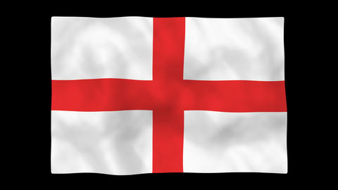 National Flag A67 ENG HD Stock Video Footage